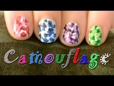 ~*Camouflage Nail Art Design- Colorful Camo!*~      Colorful Camouflage that is quick and easy to design with both hands.