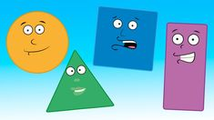 Here is a song to help youngsters learn some basic shapes.  It features a singing triangle, rectangle, circle, and square -- plus other surprises!