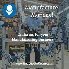 Uniforms for your manufacturing business. #manufacture #uniforms