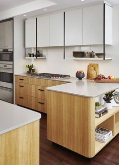 Contemporary kitchen design with curved edges. #kitchen #kitchendesign #kitchendecor #kitcheninspiration #kitchenidea #interiordesign #homedecor
