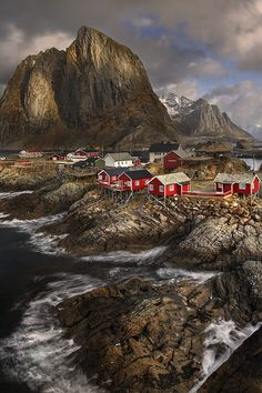 Small fishing village in Norway  by Yury Pustovoy