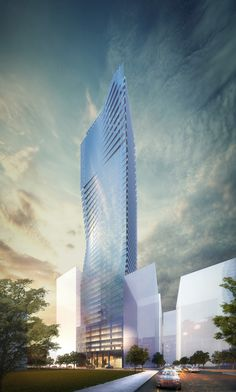 LG Construction + Development High Rise Rendering