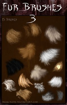 Brushes: Fur part: 3 by Snow-Body on DeviantArt Bunny Painting, Painting Fur, Acrylic Painting Lessons, Painting Tools, Gimp Brushes, Photoshop Brushes, Photoshop Tips, How To Draw Fur, Corel Painter