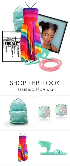 """""""pride festival style"""" by msmisty on Polyvore featuring Nasty Gal, Glitzy Rocks, Ancient Greek Sandals, Swarovski and pride"""