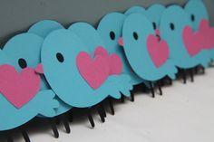 Set of 12 Valentine's Birds by CraftingCrew on Etsy, $6.00