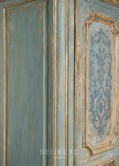 Detail of a large cabinet's painted finish. Come see more interior design inspiration with Exquisite Plaster Walls, Finishes and Segreto Stone. French Country Interiors, Country Interior Design, French Country Decorating, Country Style Homes, French Country Style, Design Furniture, Paint Furniture, Custom Furniture, Furniture Ads