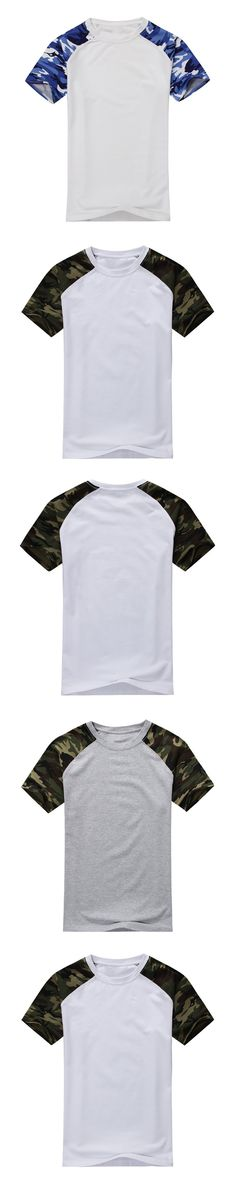 Man Casual Camouflage T-shirt Men Cotton Arm Combat T Shirt Military Camo Camp Mens Tees Army green white 3XL