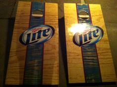New Miller Lite Cornhole Boards