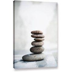 ArtWall Elena Ray Sea Stones 2 inch Gallery-wrapped Canvas, Size: 16 x 24, Black