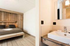 slaapkamer met ensuite badkamer : Charmant Vakantiehuis voor 10 personen met tuin aan zee in Knokke. Ook te huur per weekend.  www.zaligaanzee.be