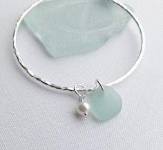 Scottish Sea Glass Fresh Water Pearl Sterling by ScottishCladach