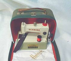 The Bernina Toy Sewing Machine circa 1955-60--from Harrods, no less!
