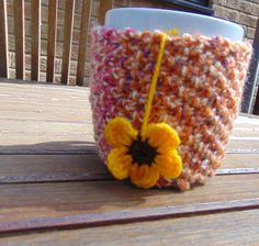 Hand Knitted Mug Cosy by LittleDaisyKnits on Etsy,