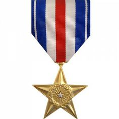 The Silver Star (SS) Medal is a decoration presented by the U.S. military to recognize gallantry in battle. It is the third highest ranking award that can be received for valiant actions and may be awarded to any service member of the Armed Forces who is recognized for heroism.