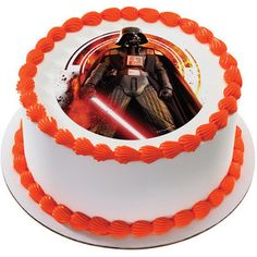 Star Wars Darth Vader Edible Cake or Cupcake Toppers - Choose Your Size