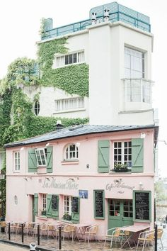 La Maison Rose is located in Montmartre, in the 18th arrondissement of Paris.