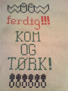 ferdig Cross Stitch Embroidery, Ravelry, Hilarious, Humor, Chicken Soup, Sewing, Inspiration, Patterns, Quotes