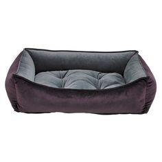 Bowsers Scoop Dog Bed - Aubergine/Ash (Microvelvet)