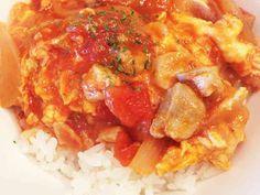 トマト缶で、スピード洋風☆親子丼♡ランチの画像