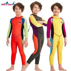 57833eef65 2018 Boys Girls Wetsuit Full body Neoprene Wetsuits Back Zip Spring Warm Swimming  Diving Surfing Suits Long Sleeve Yellow