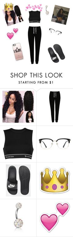 """""""Untitled #156"""" by jeimery on Polyvore featuring George, T By Alexander Wang, GlassesUSA, NIKE, Bling Jewelry and Casetify"""