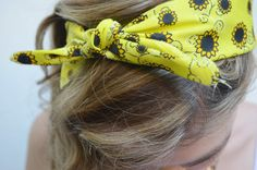 Glitz and Grammar blog: 4 cute ways to wear your bandana.
