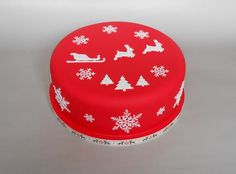 Little Velvet Christmas Cakes Are Rich Fruit Covered In  cakepins.com