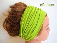 Haarband KIWI 12 cm  von  Maria Elfenbunt auf DaWanda.com