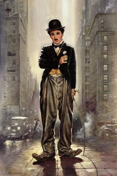 Charlie Chaplin, City Lights Posters by Renato Casaro at AllPosters.com