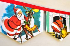 Paper Christmas Banners made from Little Golden Books by collecting feathers @ Sew and Tell Fair, Bangalow, Dec 8