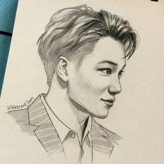 Marvel Drawings, Kpop Drawings, Art Drawings, Kpop Exo, Kai, Witchy Wallpaper, Sun Projects, Exo Fan Art, Celebrity Drawings