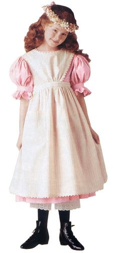 """Kirsten Larsen's pink gingham dress with white apron, short puffed sleeves, & flower wreath. This Pioneer costume was from """"Dress Like Your Doll"""" by American Girl. Pink Gingham, Gingham Dress, Pink Dress, Dolly Fashion, Girl Fashion, Original American Girl Dolls, Pioneer Costume, American Girl Clothes, American Girls"""