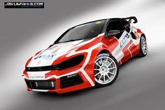 The VW Scirocco Mk3 SuperCar livery for Jochen Coox. ©QBA/JC/ERC24