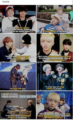 Suga said they aren't that close and he wants to have a better relationship, but he surely thinks well of him.