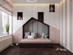 Luxurious Interior With Wood Slat Walls is part of children Room Girl - Get onboard with the wood slat wall trend with this luxurious home interior; featuring wood slat dividing walls, wall panel design and wood ceiling ideas Kids Bedroom Designs, Kids Room Design, Design Bedroom, Luxury Interior, Room Interior, Interior Design, Interior Colors, Interior Modern, Interior Ideas
