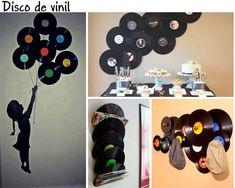 disco de vinil decoração