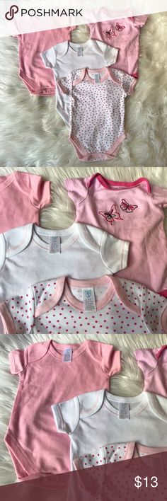 Baby girl bodysuits bundle 6 mo New, 6 months One Pieces Bodysuits