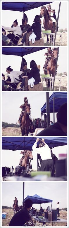 hu ge scaring wang kai with his horse