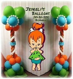 Decoracion Pebbles Twin Birthday Parties, Second Birthday Ideas, First Birthday Party Themes, Baby Girl First Birthday, 2nd Birthday, Baby Shower Parties, Baby Shower Themes, Pebbles Flintstone, Twins 1st Birthdays
