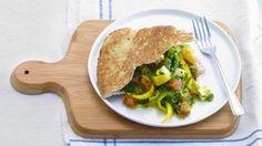 Spinaziecurry met kaas en naanbrood - Recept - Allerhande - Albert Heijn