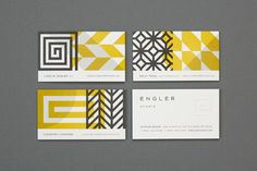 I love the layering of patterns for Engler Studio's identity. By Eight Hour Days.