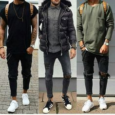 Comment below: 1, 2, or 3? . Follow @mens.fashion.chronicle for more! .  @massiii_22