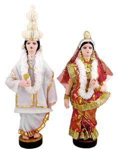 Bengali Bridal Doll - Set of 2 (Cloth)