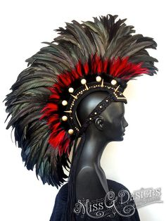 MADE TO ORDER Midsize Black & Red Feather by MissGDesignsShop, $450.00