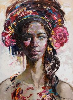Buy Flowers in her hair - Original oil girl portrait painting, Oil painting by Anastasiya Valiulina on Artfinder. Discover thousands of other original paintings, prints, sculptures and photography from independent artists.