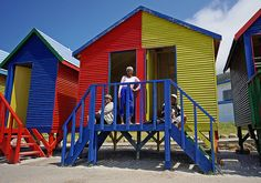 Wonderful beach huts at St James, Cape Town (by Sallyrango, via Flickr)     www.capepointroute.co.za Cape Town Tourism, Welcome Images, Beach Huts, World Images, World's Most Beautiful, Beach Cottages