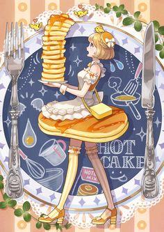パンケーキ 女子