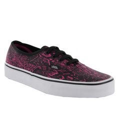 Vans Authentic Shoes - (Snake) Fuchsia