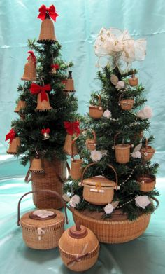 miniature baskets tree
