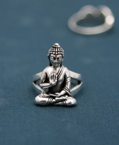 Silver Buddha Ring